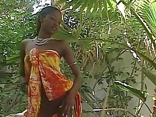 Amazing ebony pornstar India gets empty