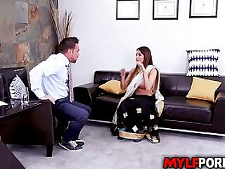 Baautiful Indian MILF Anissa Kate gets some sexual relations counseling