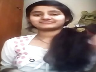indian young lady showing her bosom