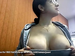 Big Tit Indian MILF Shows Off Fabrication Handy Work With People In The Office