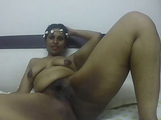 Horny South Indian naked with the addition of masturbating