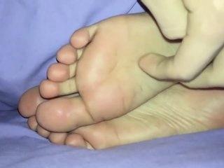 sleeping pakistani girl big feet pleased as Punch